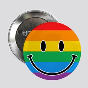 "Gay Smiley 2.25"" Button"